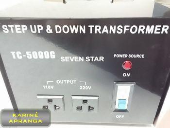 Transformatorius-Įtampos keitiklis 5KW TC-5000G (Step UP and Down Transformer TC-5000G)