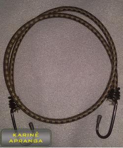 Karinės gumos su kabliais (Elastic Bungee Straps with Metal Hooks).