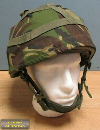 Antšalmis G.S. MK6 temperate DPM. Cover combat helmet Woodland G.S. MK6 temperate DPM.