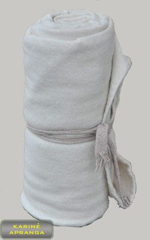 Balta šilta vilnonė antklodė. Blanket White wool.