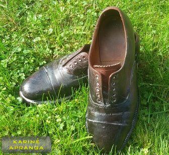 Odiniai rudi paradiniai batai.