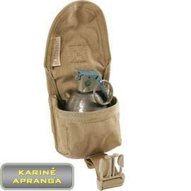 """""""BLACKHAWK STRIKE"""" granatos krepšelis , tamsaus smėlio spalvos, mažai dėvėtas ( BLACKHAWK STRIKE frag grenade pouch, coyote tan, used, Grade 1)"""