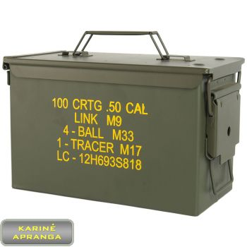 Hermetiškos amunicijos dėžės. Water-resistant steel boxes.