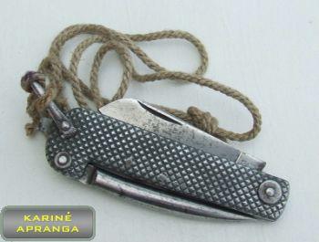 D. Britanijos Karališkojo laivyno jūreivio peilis nuo 1940 m.  (orginalus, labai retas).