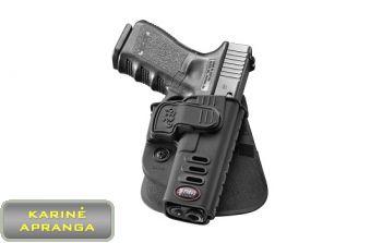 FOBUS greito ištraukimo pistoleto dėklas, mažai naudotas (Fobus Rapid Release Retention Holster, black, used, Grade 1)