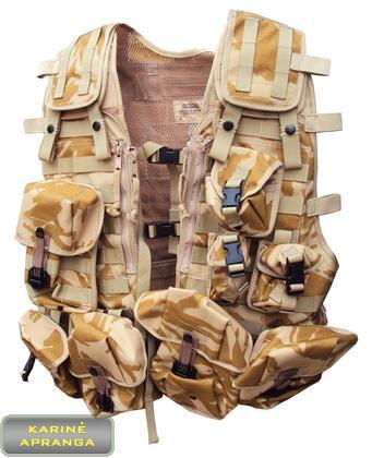 """Amunicijos liemenė """"Desert"""". (Molle Vest Tactical Load Carrying Desert DPM)"""
