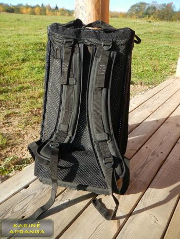 Radijo stoties kuprinė. Army radio station rucksack (black, nylon).