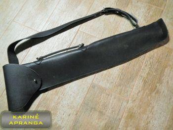 Juodas odinis dėklas ilgam ginklui (long gun black leather holster)