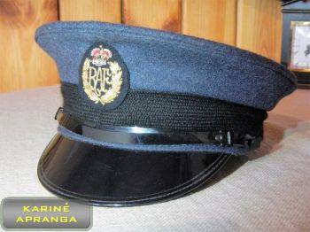 Paradinė kepurė su skiriamuoju ženklu 55, 56, 57, 58 cm (melsva, juoda RAF).