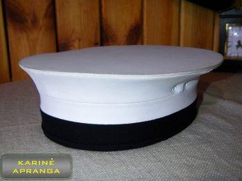 Jūreivio paradinė kepurė 58 cm (balta, juoda).