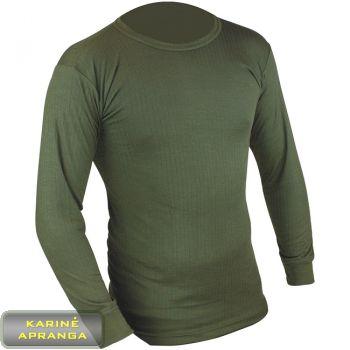 Apatiniai šilti marškiniai. Vest thermal underwear, light olive (PCS)