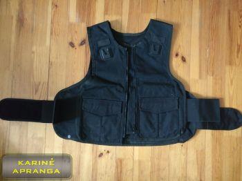 Apsauginė liemenė, juoda, mažai dėvėta (Vest, black, used, Grade 1)