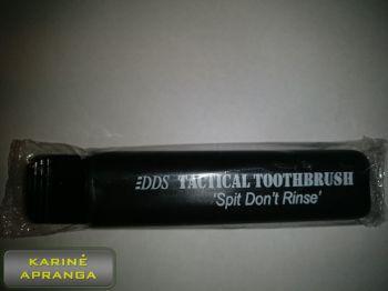 Taktinis sudedamas  dantų šepetukas (Tactical toothbrush, balck, new)