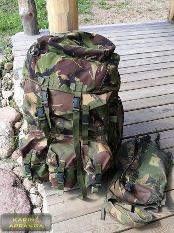 """Britų kariuomenės kuprinė su rėmu DPM, IRR """"Rucksack and frame, (INF) Short convoluted back DPM, IRR"""""""