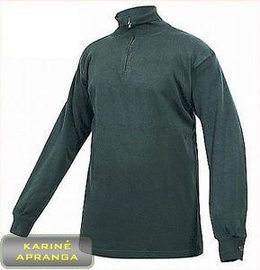 Juodos spalvos šilti britų kariuomenės marškiniai su 1/4 užtrauktuku.