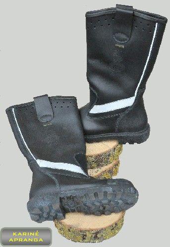 """Juodi odiniai neperšlampami batai """"Jolly"""" su """"Gore-Tex"""""""