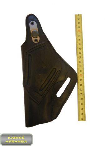Natūralios, juodos odos pistoleto CŽ-75 dėklas.