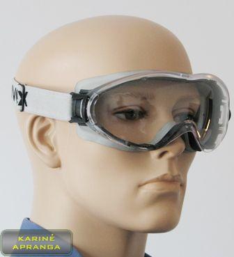 Apsauginiai akiniai UVEX su pilka tvirtinimo juostele