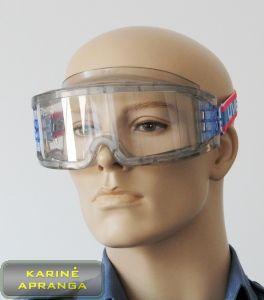 Apsauginiai akiniai UVEX su ryškiaspalve tvirtinimo juostele