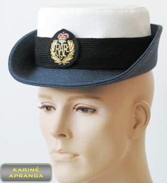 Paradinė kepurė su skiriamuoju ženklu 55 cm (melsva,balta juoda).
