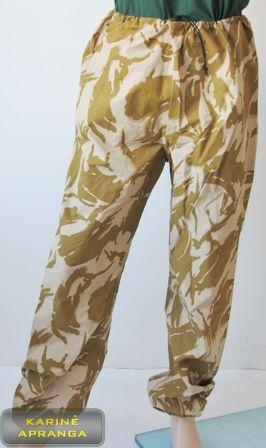 """Neperšlampamos smėlio spalvos maskuojamosios britų kariuomenės kelnės  su """"Gore-Tex"""""""