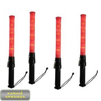 Signalinės šviečiančios lazdos LED. LED Traffic Baton.