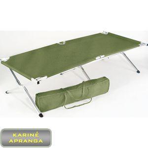 D. Britanijos kariuomenės sudedama lova su dėklu.