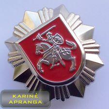 Lietuvos policijos ženklas. Badge Lithuania Police.