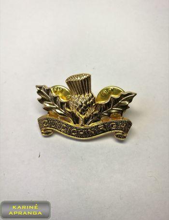 Škotų Karališkojo pulko prisegamas apykaklės ženklas Nr.17