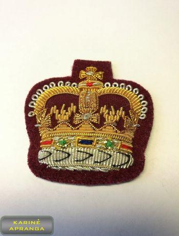 Siuvinėtas WO2  laipsnis, karūna  D.Britanija Nr.1
