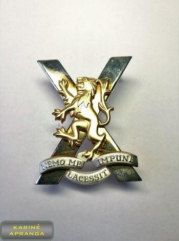 Škotų karališkojo pulko beretės ženklas Nr.20