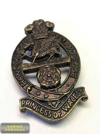 Velso princesės Karališkojo pulko beretės ženklas. Nr.31