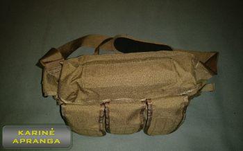 """""""BLACKHAWK""""  amunicijos krepšys tamsaus smėlio spalvos, mažai dėvėtas (BLACKHAWK AMMUNITION GRAB BAG, coyote tan, used, Grade 1)"""