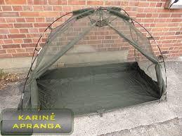 Britų kariuomenės palapinė-tinklelis nuo uodų (Cot Mounted Mosquito Net).