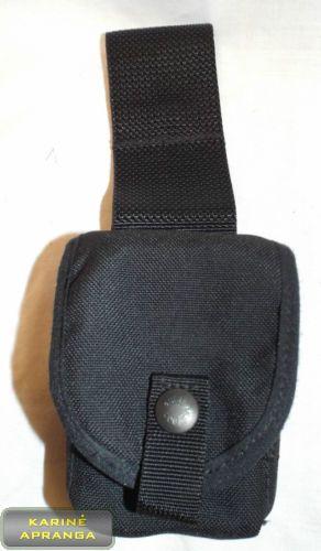 "2-jų 9mm ""LUGER"" dėtuvių dėklas (BLACK MOD POLICE AMMUNITION POUCH)"