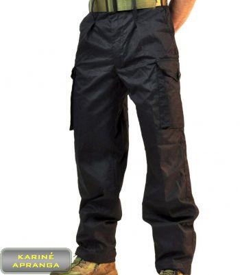 SAS Rip-Stop britų kariuomenės kelnės (SAS RIP-STOP Black Field Combat Trousers)
