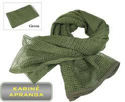Taktinė chaki spalvos tinklinė kariuomenės skara (military/ army shawl)