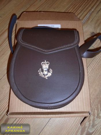 Odinė karališkojo Škotijos pulko piniginė. (ROYAL REGIMENT OF SCOTLAND SPORRAN PURSE)