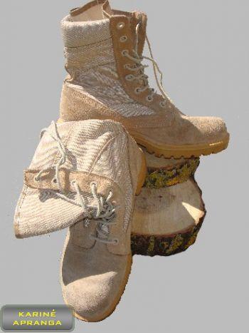 Smėlio spalvos žygio batai