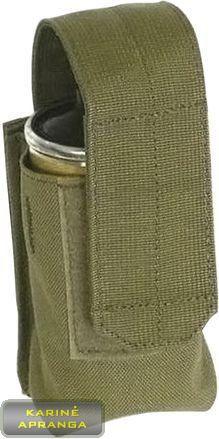 """""""BLACKHAWK STRIKE"""" dūminės granatos krepšelis , žalios spalvos, mažai dėvėtas (BLACKHAWK STRIKE Smoke Grenade Single Pouch, grean, used, Grade 1)"""