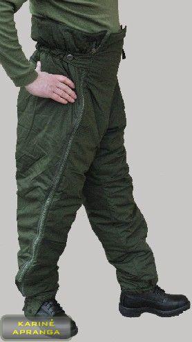 Žalios švedų kariuomenės termo kelnės