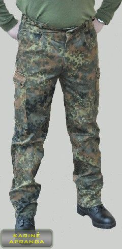Maskuojamosios vokiečių kariuomenės BW kelnės