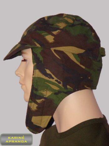 Žalios spalvos maskuojamoji britų kariuomenės šilta kepurė