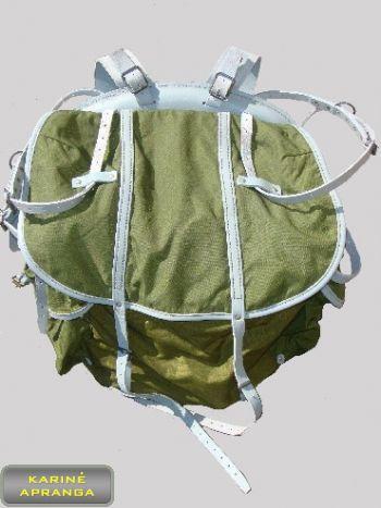 Originali Švedų kariuomenės kuprinė su odiniais diržais.