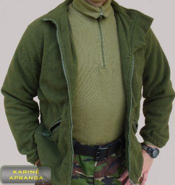 Žalias šiltas britų kariuomenės bliuzonas