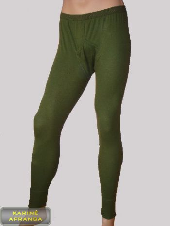Žalios medvilninės apatinės kelnės.