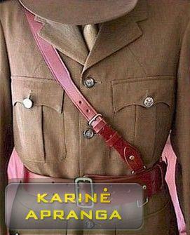 Didžiosios Britanijos kariuomenės karininko diržas.
