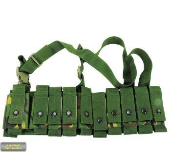Povamzdinių granatų diržas 40 mm DPM. (British Army Grenade Bandolier Carriers 40mm DPM)