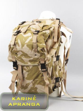 Britų kariuomenės kuprinė, dykumų marginimo DPM, nauja (British army military rucksack desert DPM Bowman patrol tactical radio backpack, new)
