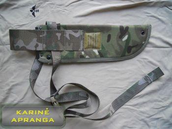 Britų kariuomenės peilio ar mečetės dėklas, MTP marginimo, mažai dėvėtas (British Armysheath, MTP, IRR, jungle knife, used, Grade 1)